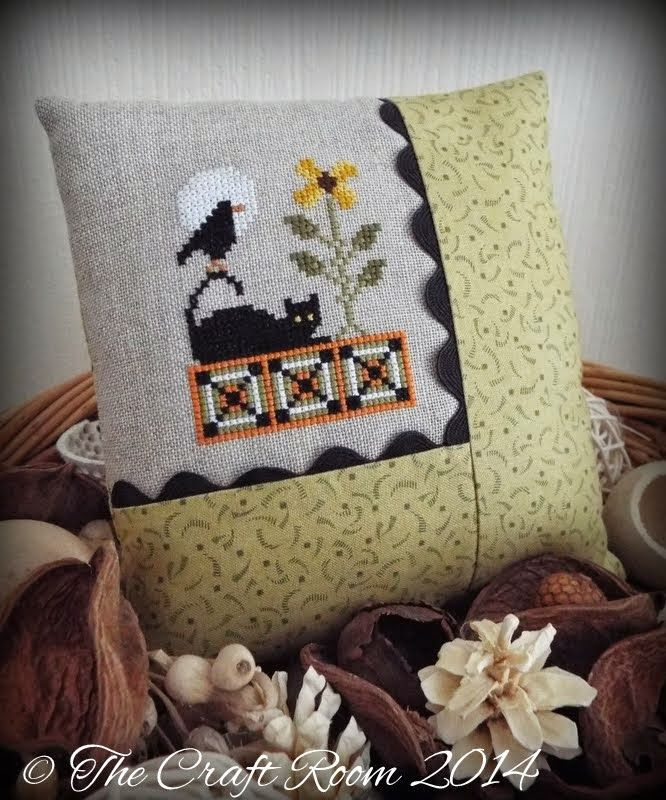 Lookin' Like Fall Cross Stitch • love the way this has been finished. Chart is pinned nearby.