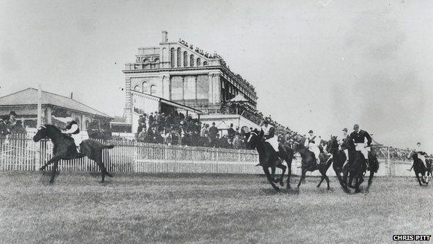 Racing at Alexandra Park, London - the London Gold Cup 1899