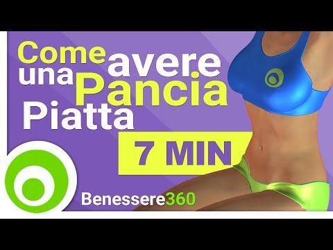 Come Avere una Pancia Piatta - 7 Minuti di Esercizi Addominali - YouTube