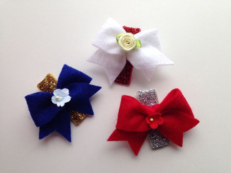 Fourth of July hair clips