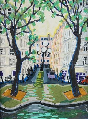 Parisian streetscapes by artist Bernard Ollis