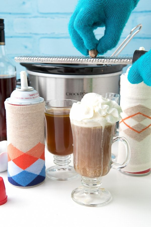 Hot Buttered Rum and DIY Whipped Cream Canister Cozies - BoulderLocavore.com