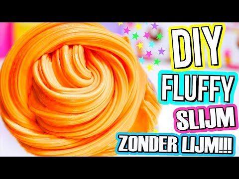 FLUFFY SLIJM ZONDER LIJM, LENSVLOEISTOF, BORAX, MAIZENA. DIT MOET JE ZIEN! - YouTube