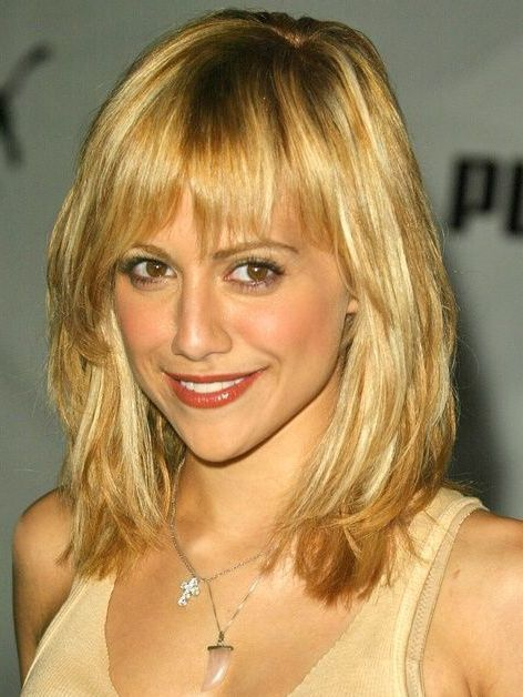 mid length hairstyles 2014 with bangs