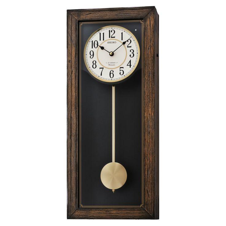 Seiko Qxm343blh Greyson Musical Wall Clock Pendulum Wall Clock Chiming Wall Clocks Wall Clock