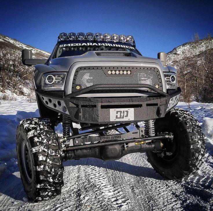 Dodge Diesel Trucks >> Lifted Dodge ram Cummins turbo diesel mega ram runner dieselsellerz in the snow | trucks I like ...