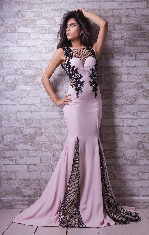 Bleack Beads evening Dress