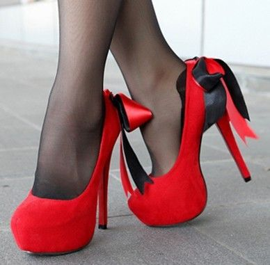 Red Ribbon Princess #HighHeel ~5 inches high heel These are just so cute, a must have.