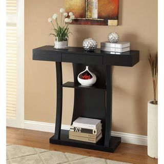 black sofa table with storage. Black Finish Console Sofa Table With Drawer, Overstock.com, $132, Black. Storage T