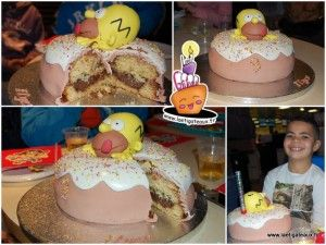 Gâteau Homer Simpson et son Donut // Homer Simpson 's donut cake