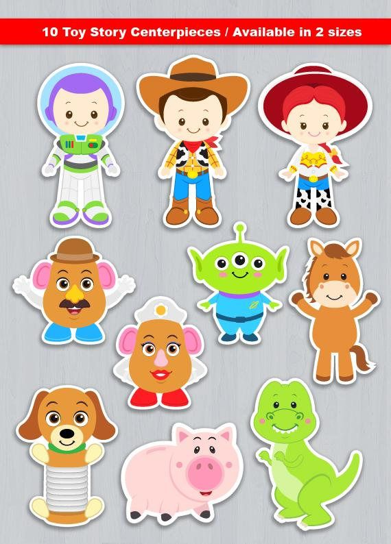 Toy Story Centerpiece Digital File INSTANT DOWNLOAD * This is Printable file (PDF) and no physical items will be mailed to you. ----------------------- ★★ Package Included ★★----------------------------------- You will received * 1 PDF file of 10 Characters neatly layout in 8.5 x 11