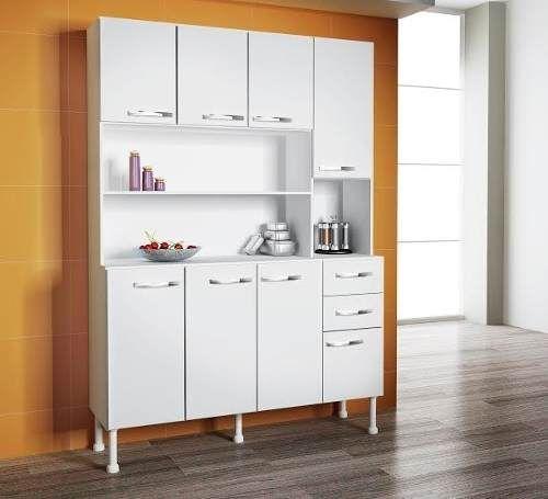 Kit mueble de cocina alacena 8 puertas 2 cajones for Cajones para cocina