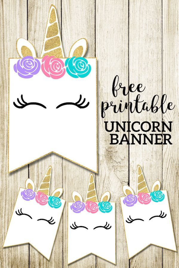 Free Printable Unicorn Decorations Party Banner | Unicorn ...