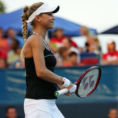 tennis player costume idea: tennis dress/skirt/tank and shorts + visor + tennis shoes + a racket