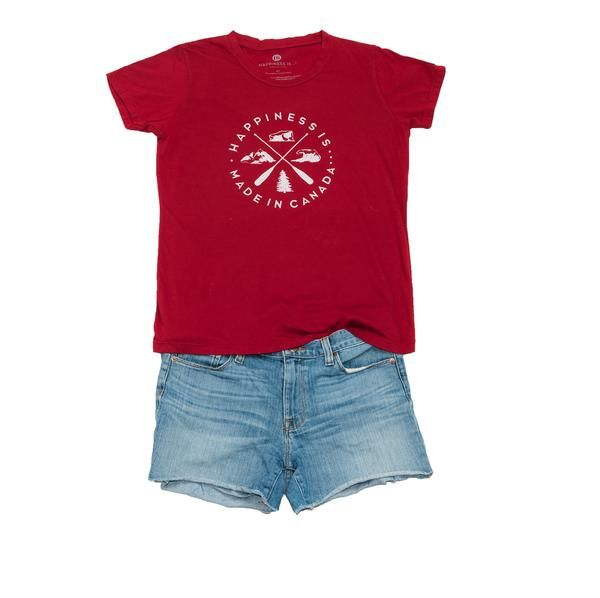 Crest Women's T-Shirt, Canada Red