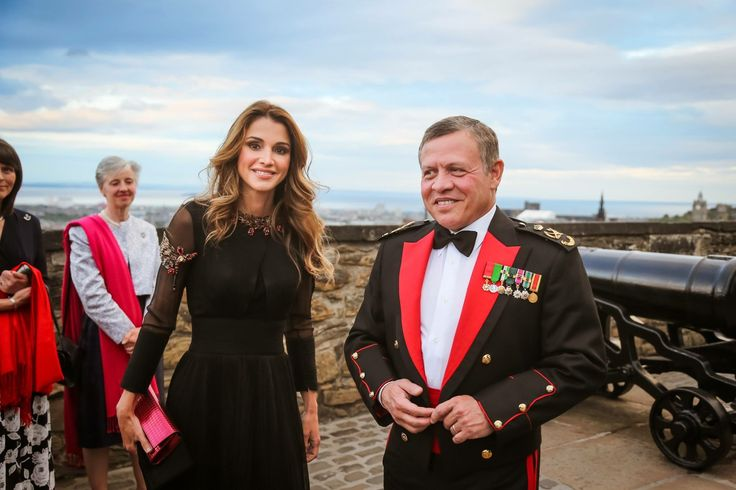 His Majesty King Abdullah II and Her Majesty Queen Rania attend the 2016 Edinburgh Military Tattoo held in Scotland  Scotland, Edinburgh/ August 6,2016