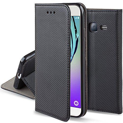 Coque Samsung Galaxy J5 2016 a rabat Noir - Housse Étui fin Smart magnétique de Moozy® avec Stand pliant et support de téléphone en silicone #Coque #Samsung #Galaxy #rabat #Noir #Housse #Étui #Smart #magnétique #Moozy® #avec #Stand #pliant #support #téléphone #silicone