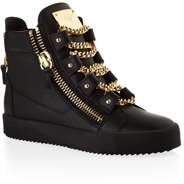 Giuseppe Zanotti Lovejoy High-Top Sneaker | Harrods (30.155 UYU) ❤ liked on Polyvore featuring shoes, sneakers, giuseppe zanotti shoes, hi-tops, giuseppe zanotti, high top trainers and giuseppe zanotti high tops