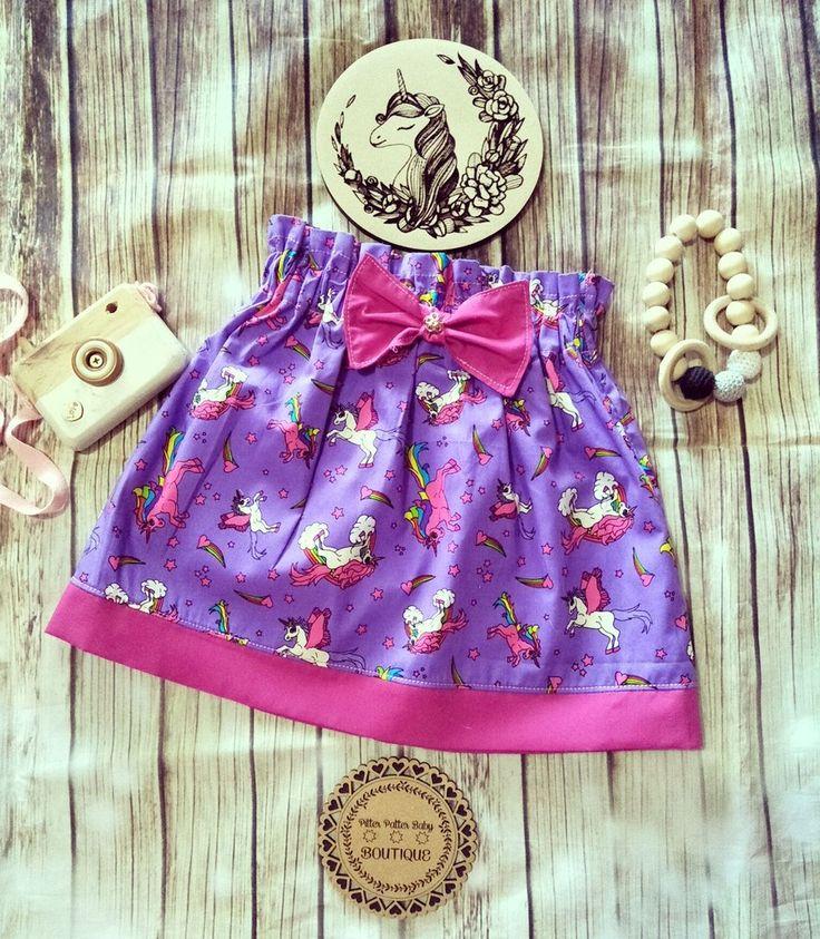 Unicorn High Waist Purple Skirt