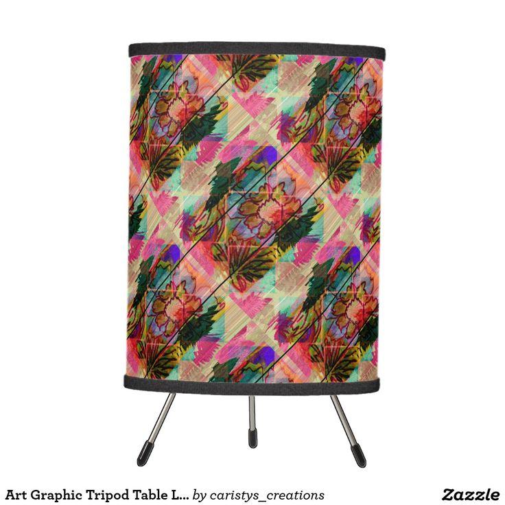 Art Graphic Tripod Table Lamp