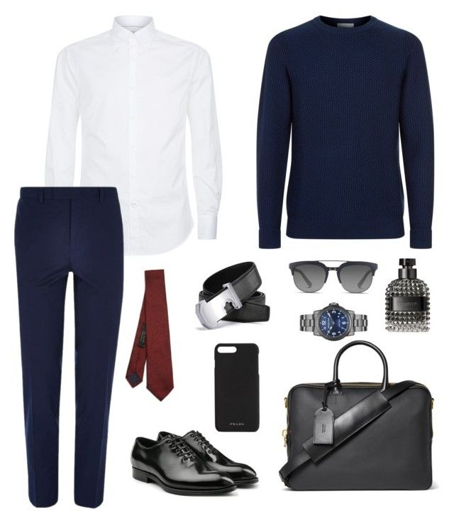 """Strong dress-code"" by ne-alina on Polyvore featuring Brunello Cucinelli, Sandro, River Island, Dolce&Gabbana, Michael Kors, Valentino, Tom Ford, Prada, Ted Baker и men's fashion"