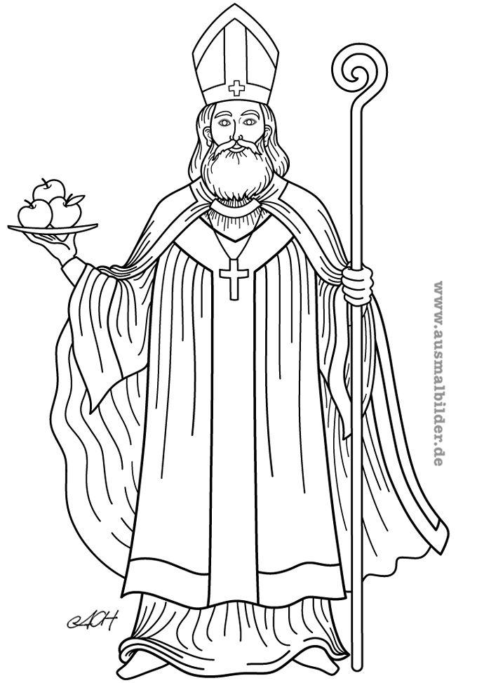 Bildergebnis Für Heiliger Nikolaus Von Myra Ausmalbild Mikołaj
