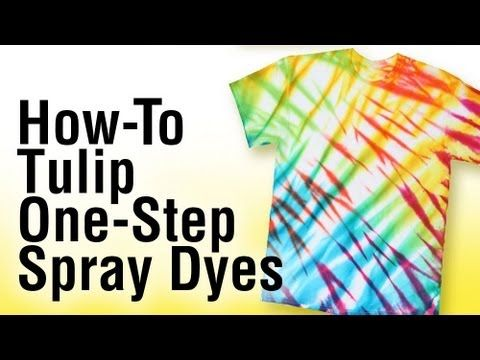 How-to Tie Dye/Spray Dye techniques