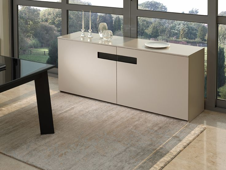 SQUARE contemporary sideboard with sliding doors