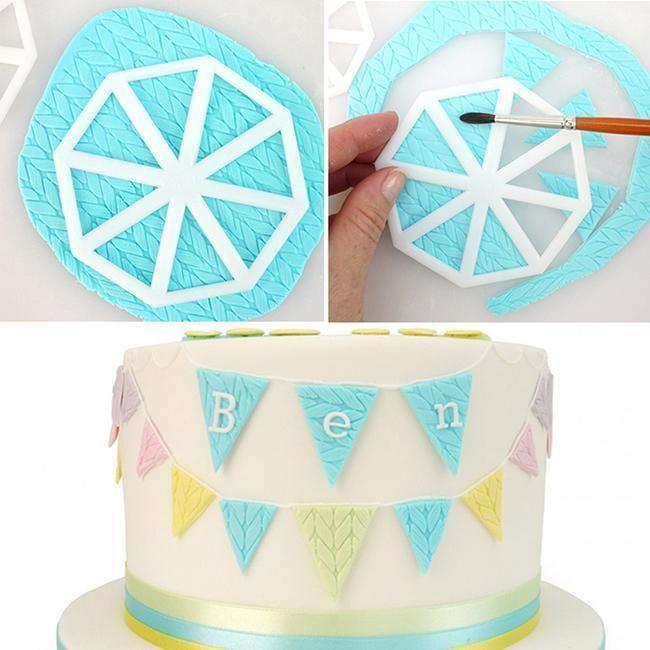 3pcs Set Triangle Flag Cookie Cutter Mold Fondant Cake Decorating Pastry Tool J Bolo Caramelo Meninas