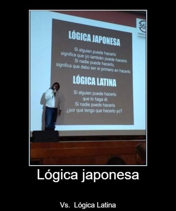 Lógica japonesa Vs. lógica latina
