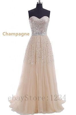 Cheap-Champagne-Prom-Dresses-Long-Evening-Dress-Party-Dress-Stock-us-size-2-16