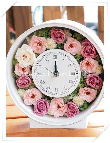 花冠を花時計に