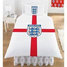 England FA Football Single Quilt Cover