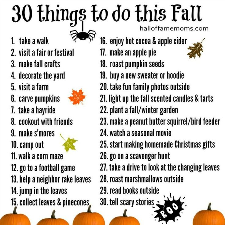 30 Fun Things To Do This Fall