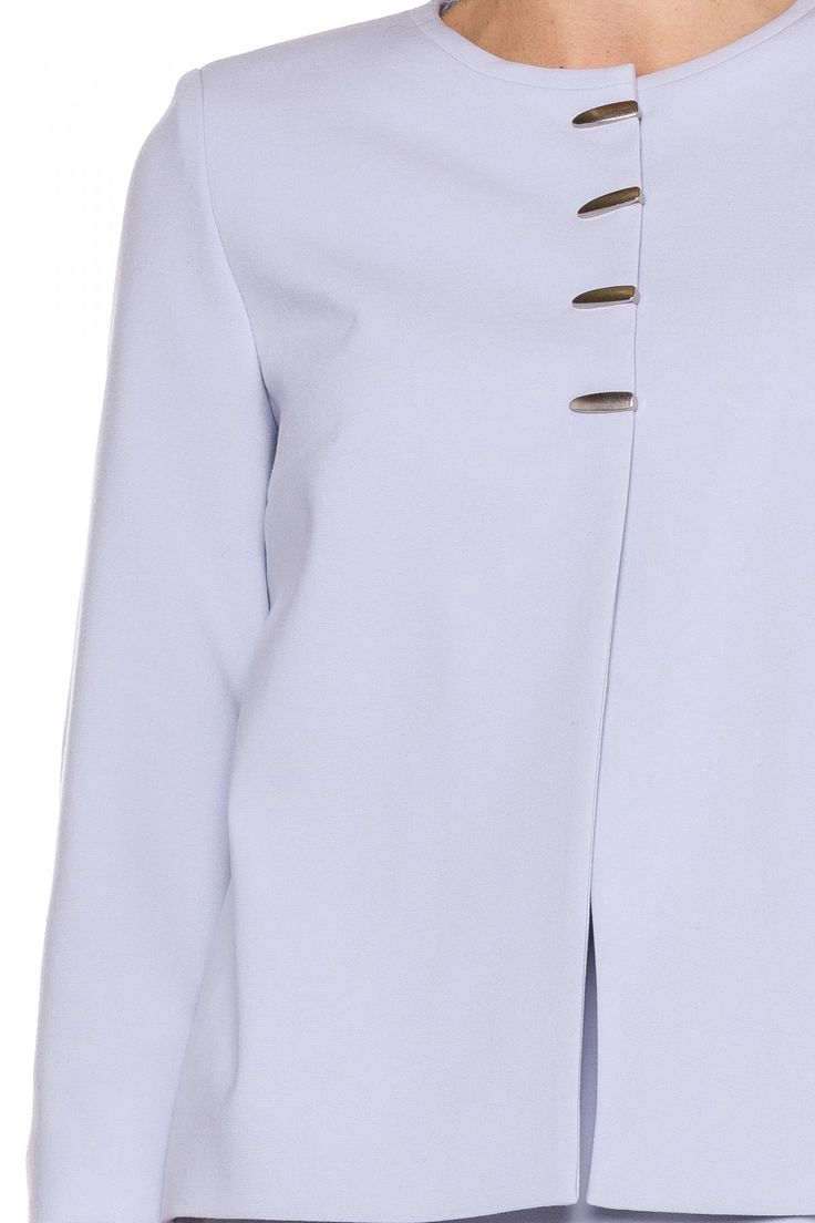 Szary żakiet na 4 napy - Kumi  #kumi #fashion #ss17 #elegance