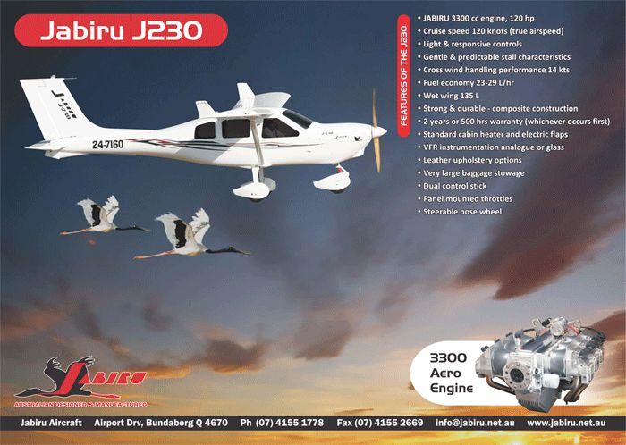 Jabiru J-230D LSA derived from replace aircraft