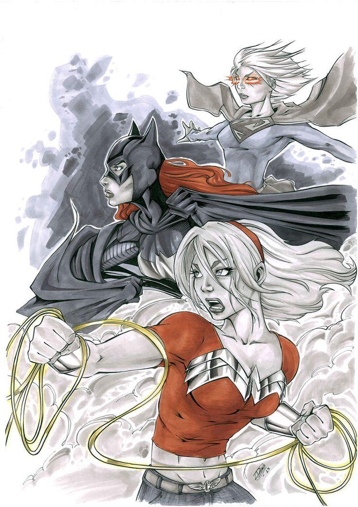 Supergirl, Batgirl and Wondergirl