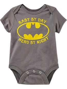 DC Comics™ Batman Bodysuits for Baby | Old Navy... Stuff like this Makes me want to have children !