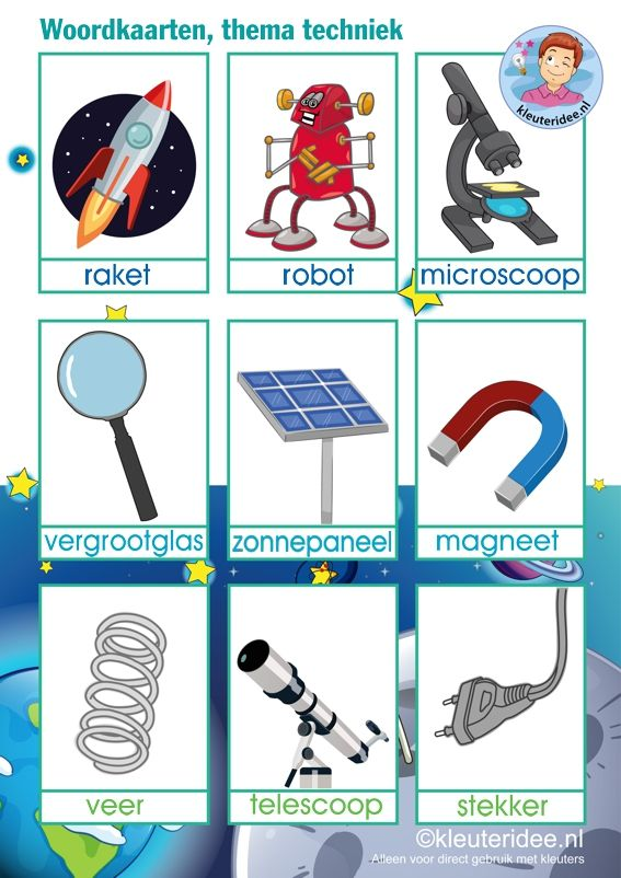 Woordkaarten 'Raar maar waar', thema natuur, wetenschap en techniek voor kleuters, Kinderboekenweek 2015, kleuteridee, free printable.