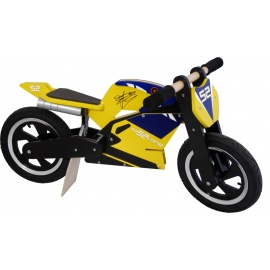 James Toseland Kiddimoto superbike loopfiets    Steel de show met deze fantastische MotoGP superbike replica, gebaseerd op de echte racemotoren.  Met deze loopfiets ontwikkel je razendsnel een goede balans, coördinatie en motoriek waardoor de overstap naar de echte fiets haast vanzelf gaat.  Deze superbike is een stoer, orgineel en leerzaam kado waarmee bij ieder kind een lach op het gezicht getoverd wordt.