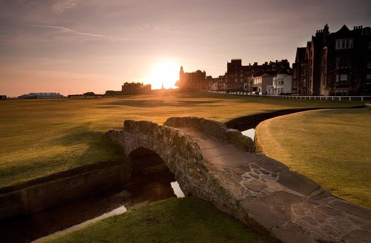 The Swilken Bridge in St Andrews was built over 700 years ago to help shepherds get their livestock across the Swilken Burn. It now separates the first and eighteenth fairways on the Old Course at St Andrews. Hands up who's had their photo taken walking across it! --- #standrews #fife #homeofgolf #scottishgolf #scotland #scotspirit  #visitscotland #lovescotland by visitscotland