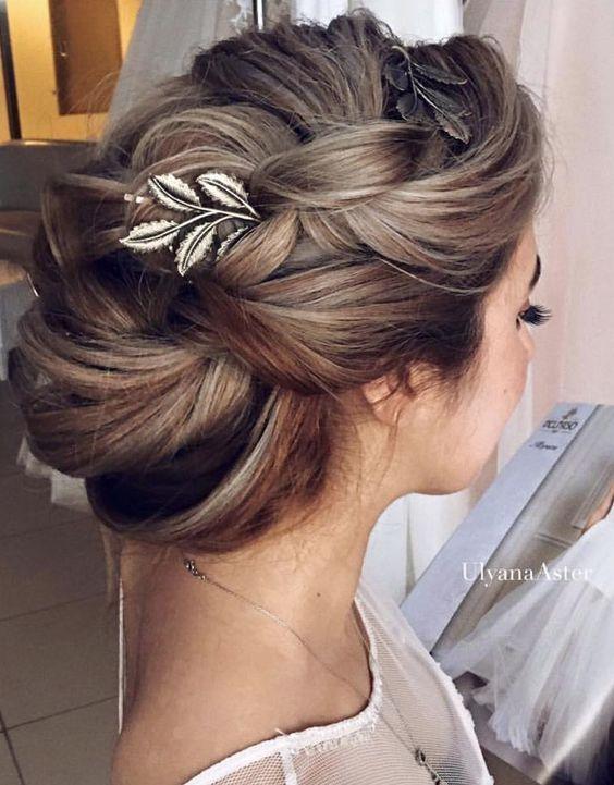 Wedding updo hairstyle idea 6 via Ulyana Aster - Deer Pearl Flowers / www.deerpearlflow...