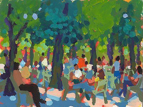 Charles Sovek - Le jardin du Luxembourg ensoleillé