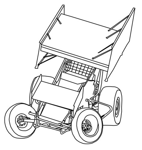 Sprint Car Drawings Racing Related Keywords