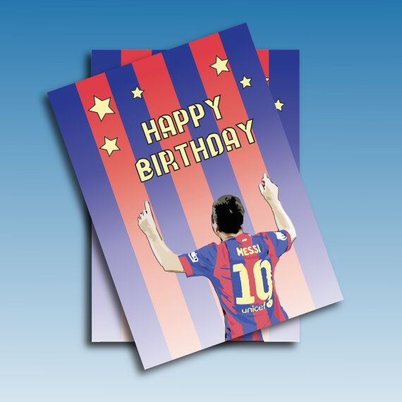 Messi Birthday Greetings Card  Barcelona 201415. by JacobyDesign, $4.00