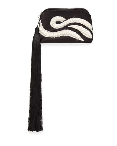 the+Row+Tassel+Braided+Mini+Wristlet+Bag