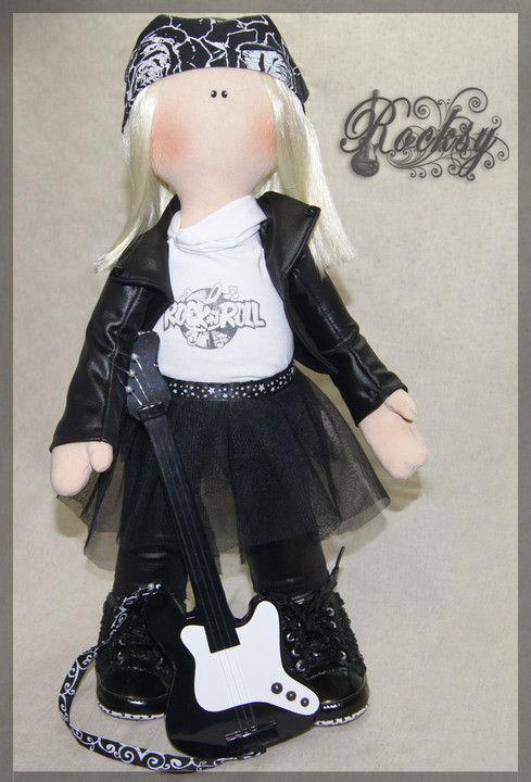Текстильная кукла с искусственными волосами, набивка - холлофайбер.  Рост 46 см.   Тextile doll with artificial hair, stuffing - a hollofayber.   Height 46 cm.