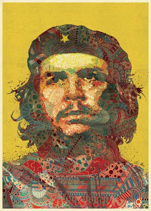 Che Guevara @urbanmyth; Che Guevara (1928 Jun14 - 1967 Oct9, d. @39 of execution); Argentine Marxist humanist revolutionary in Cuban Revolution (later Algiers, Congo, Bolivia) + physician, author, guerrilla leader, diplomat, military theorist...symbol of ubiquitous countercultural