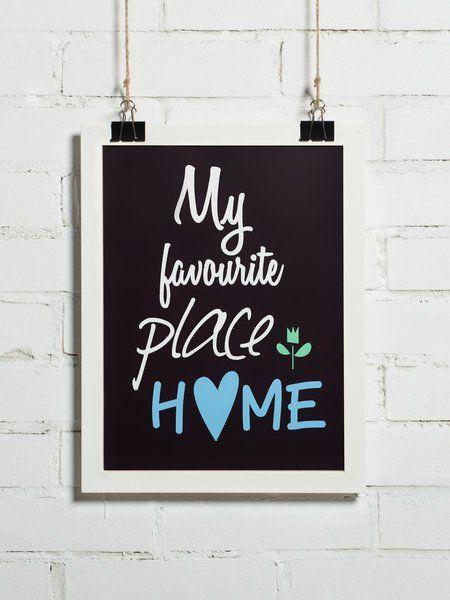 Plakat - My favourite place HOME 30x40 cm - BonzooBox - Wydruki i plakaty
