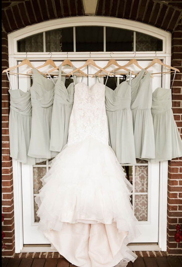 Mori Lee bridal gown from Prom USA. Alfred Angelo bridesmaid dresses from Prom USA. Photography by Caroline Whitehead.